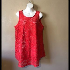 Alfani orange lace top, size 1X polyester